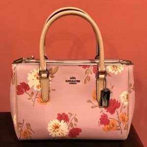 NWT Coach Floral Satchel and Crossbody Purse